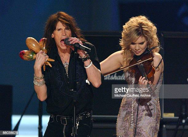 "Steven Tyler and Alison Krauss perform ""Across the Universe"" for the Tsunami Relief performance"