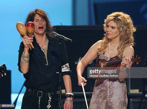 "Steven Tyler and Alison Krauss perform ""Across The Universe"" the Tsunami Relief performance"