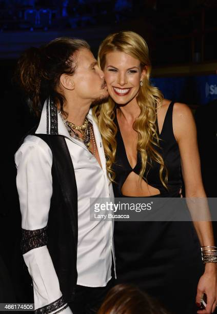 Steven Tyler and Beth Ostrosky Stern attend 'Howard Stern's Birthday Bash' presented by SiriusXM produced by Howard Stern Productions at Hammerstein...
