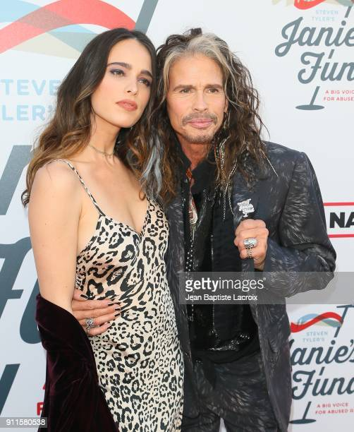 Steven Tyler and Chelsea Tyler at Steven Tyler and Live Nation presents Inaugural Janie's Fund Gala GRAMMY Viewing Party at Red Studios on January 28...
