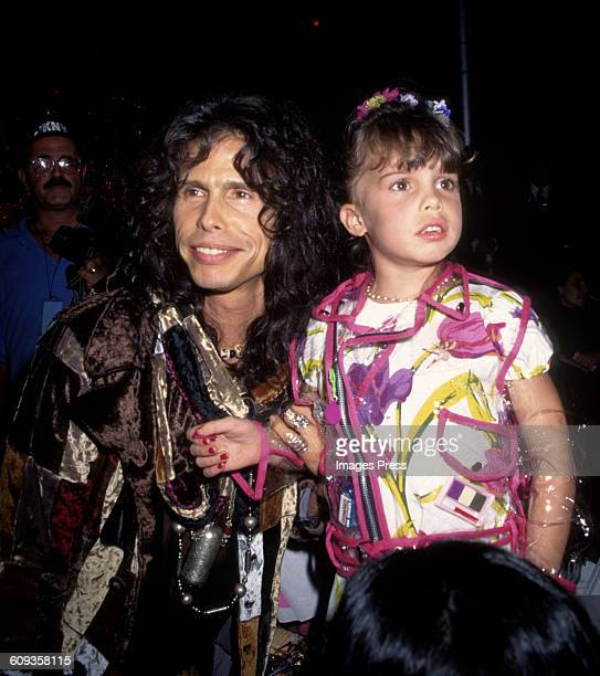 Steven Tyler and daughter Chelsea Tallarico at the Betsey Johnson Spring 1995 runway show circa 1994 in New York City