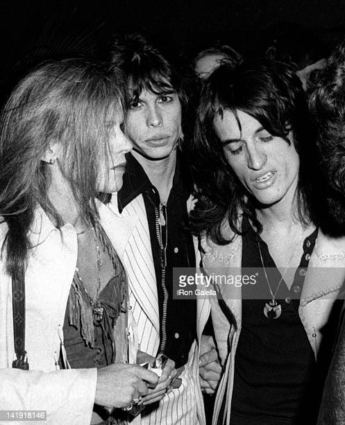 Steven Tyler and Joe Perry attend the party for Aerosmith 'Rocks' on May 10 1978 at RCA Promenade in New York City