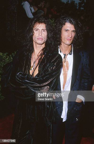 Steven Tyler and Joe Perry of Aerosmith during Aerosmith File Photos in Culver City California United States
