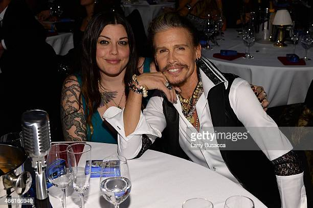 Steven Tyler and Mia Tyler attend Howard Stern's Birthday Bash presented by SiriusXM produced by Howard Stern Productions at Hammerstein Ballroom on...