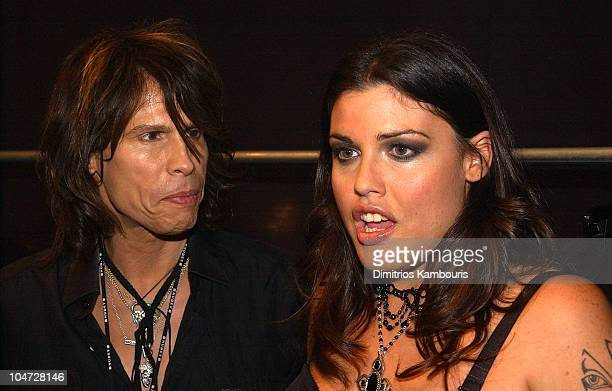 Steven Tyler and Mia Tyler during Lane Bryant Spring 2003 Fashion Show at Manhattan Center in New York City New York United States