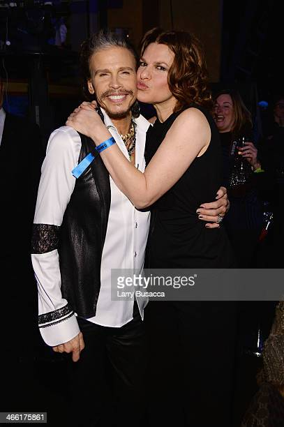 Steven Tyler and Sandra Bernhard attends 'Howard Stern's Birthday Bash' presented by SiriusXM produced by Howard Stern Productions at Hammerstein...