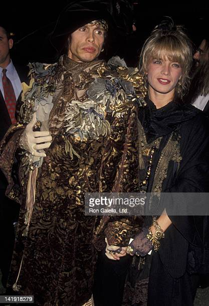 Steven Tyler and wife Teresa Barrick attend Third Annual Silver Clef Awards Honoring Bon Jovi on November 15 1990 at Roseland in New York City