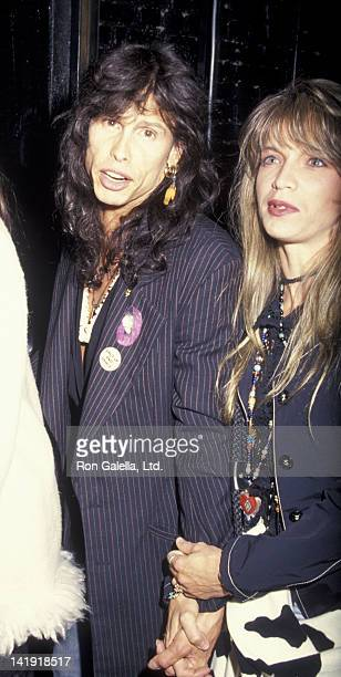 Steven Tyler and wife Teresa Barrick sighted on April 28 1993 at Club USA in New York City