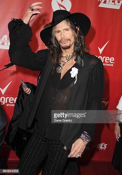 Steven Tyler arrives at the 2014 MusiCares Person Of The Year Honoring Carole King on January 24 2014 in Los Angeles California
