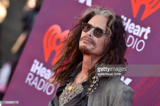 Steven Tyler arrives at the 2019 iHeartRadio Music Awards which broadcasted live on FOX at Microsoft Theater on March 14, 2019 in Los Angeles,...