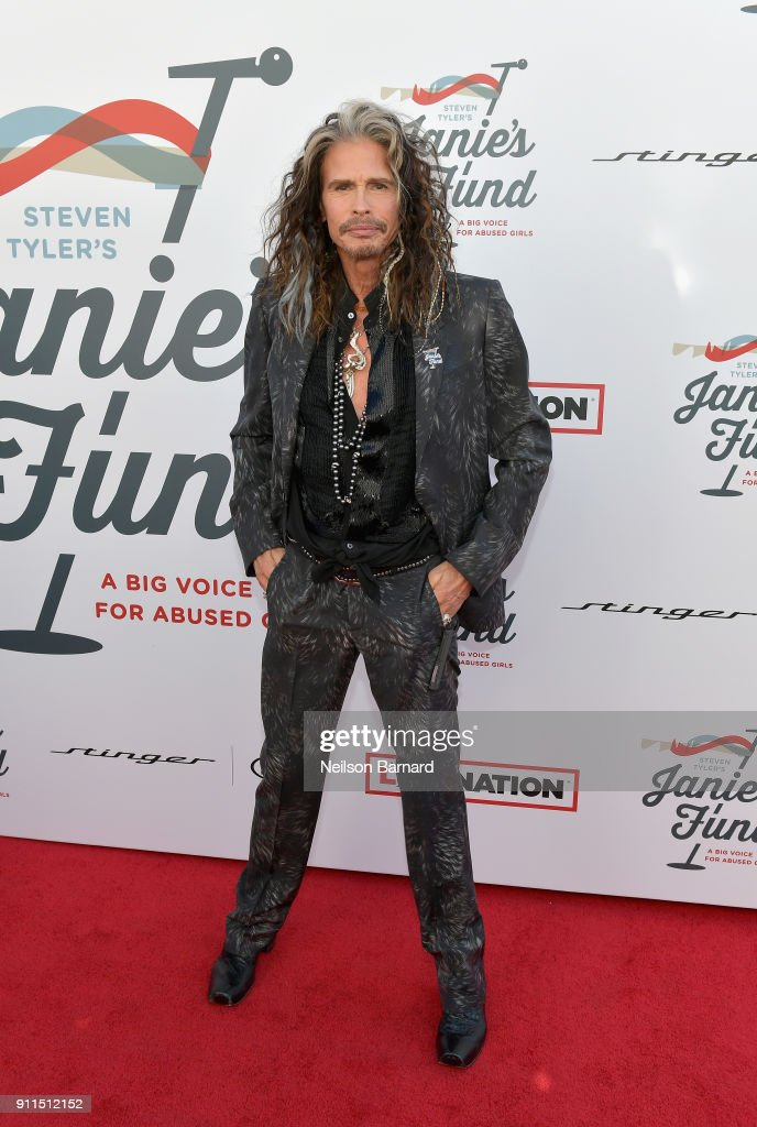 Steven Tyler at Steven Tyler and Live Nation presents Inaugural Gala Benefitting Janie's Fund at Red Studios on January 28, 2018 in Los Angeles, California.