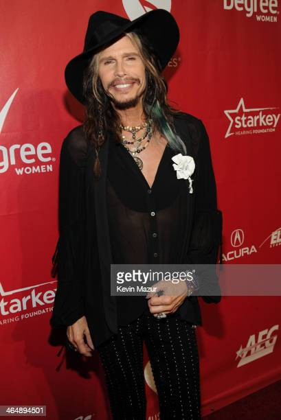 Steven Tyler attends 2014 MusiCares Person Of The Year Honoring Carole King at Los Angeles Convention Center on January 24, 2014 in Los Angeles,...