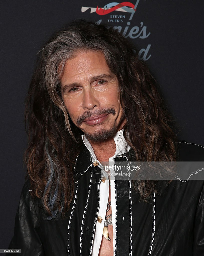 Steven Tyler attends a Janie's Fund Fundraiser at Cambria Gallery During TIFF on September 12, 2016 in Toronto, Canada.