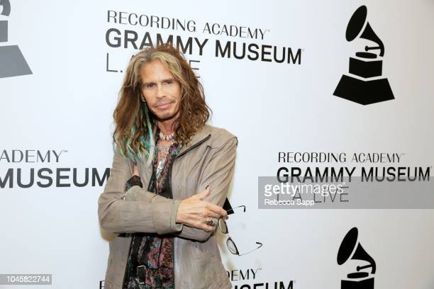 Steven Tyler attends Muscle Shoals - Small Town, Big Sound at the GRAMMY Museum on October 4, 2018 in Los Angeles, California.
