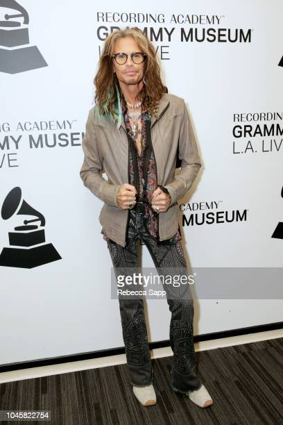 Steven Tyler attends Muscle Shoals Small Town Big Sound at the GRAMMY Museum on October 4 2018 in Los Angeles California