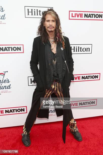 Steven Tyler attends Steven Tyler's Second Annual GRAMMY Awards Viewing Party to benefit Janie's Fund presented by Live Nation at Raleigh Studios on...
