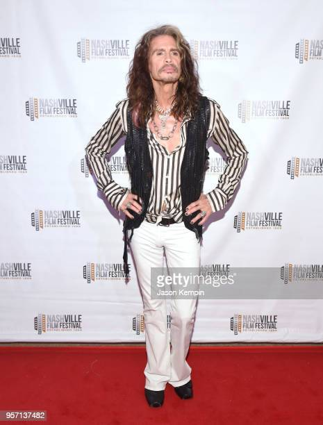 Steven Tyler attends the 49th Annual Nashville Film Festival 'Steven Tyler Out On A Limb' World Premiere on May 10 2018 in Nashville Tennessee