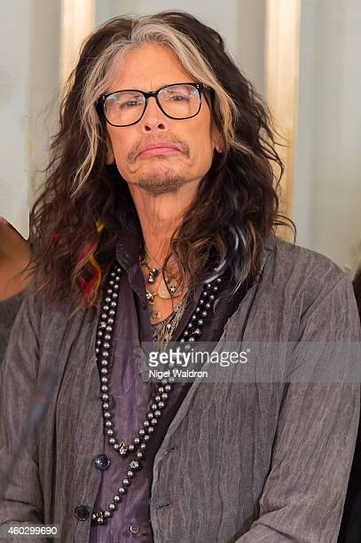 Steven Tyler attends the press conference ahead of the Nobel Peace Prize concert at the Norwegian Nobel Institute on December 11, 2014 in Oslo,...