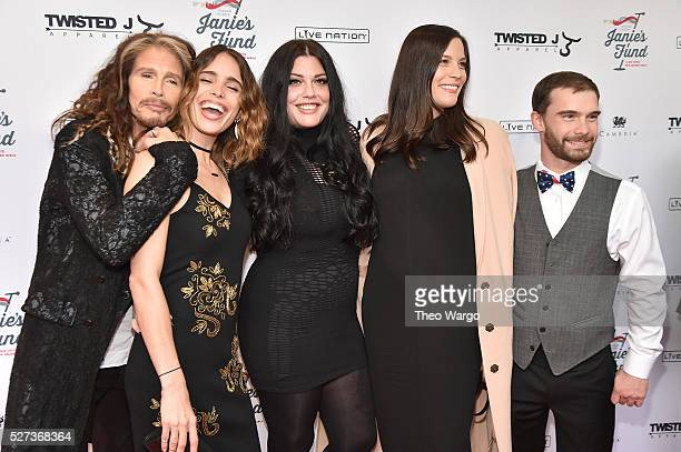 Steven Tyler Chelsea Tyler Mia Tyler Liv Tyler and Taj Tallarico attend Steven TylerOut on a Limb Show to Benefit Janie's Fund in Collaboration with...