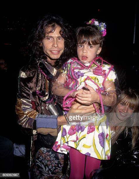 Steven Tyler daughter Chelsea Tallarico and wife Teresa Barrick at the Betsey Johnson Spring 1995 runway show circa 1994 in New York City