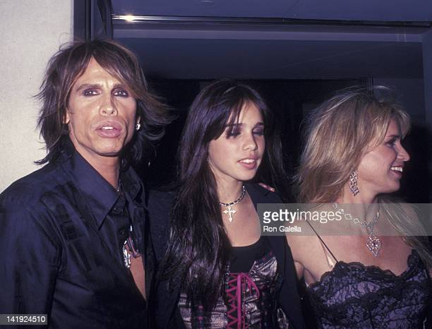 Steven Tyler daughter Chelsea Tyler and wife Teresa Barrick attend the party for VH1 Fashion Awards on October 15 2002 at the Hudson Hotel in New...