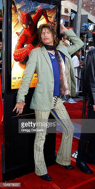 Steven Tyler during 'SpiderMan' Premiere at Mann Village in Westwood California United States