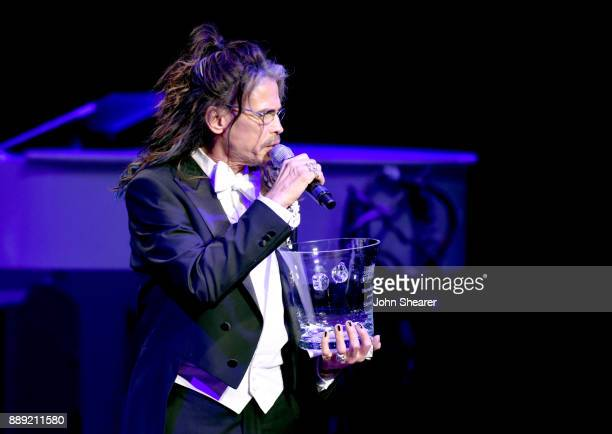 Steven Tyler is honored with Nashville Symphony's 2017 Harmony Award at Schermerhorn Symphony Center on December 9 2017 in Nashville Tennessee