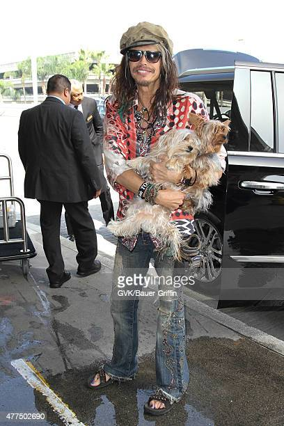 Steven Tyler is seen at LAX on June 17 2015 in Los Angeles California