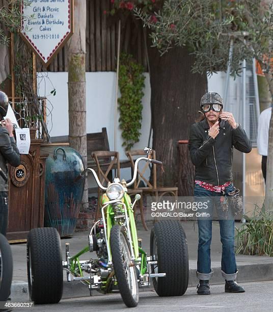 Steven Tyler is seen on January 18 2014 in Los Angeles California