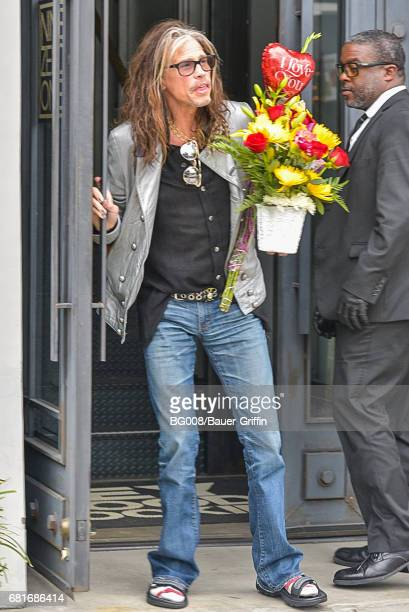 Steven Tyler is seen on May 10 2017 in Los Angeles California