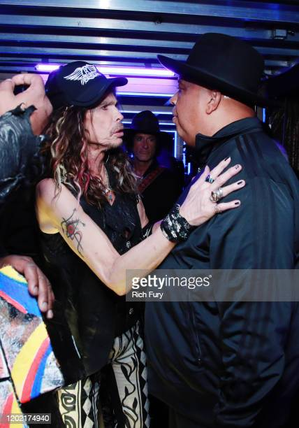 Steven Tyler of Aerosmith and Joseph Simmons of RunDMC attend the 62nd Annual GRAMMY Awards at STAPLES Center on January 26 2020 in Los Angeles...