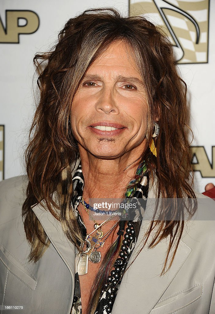 Steven Tyler of Aerosmith attends a press conference and presentation of the ASCAP Founders Award at Sunset Marquis Hotel & Villas on April 8, 2013 in West Hollywood, California.