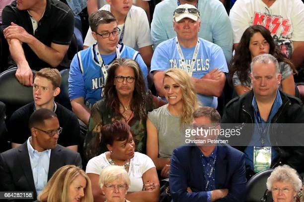 Steven Tyler of Aerosmith attends the 2017 NCAA Men's Final Four National Championship game between the Gonzaga Bulldogs and the North Carolina Tar...