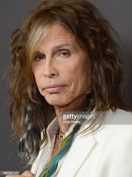 Steven Tyler of Aerosmith attends the Voice Health Institute's 'Raise Your Voice' benefit at Beverly Hills Hotel on January 24 2013 in Beverly Hills...