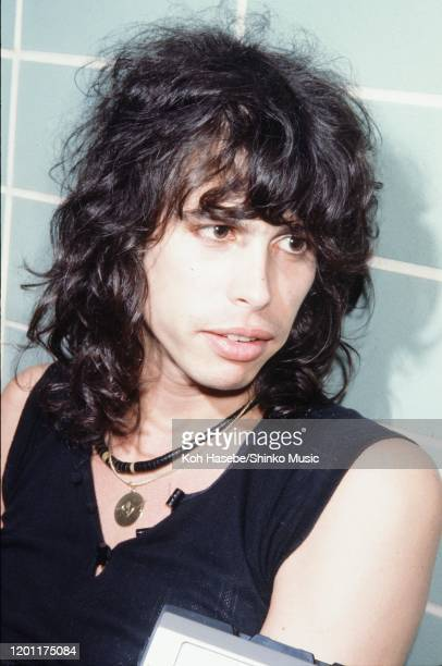 Steven Tyler of Aerosmith backstage at a venue in Mobile, Alabama, United States, 24th May 1978.