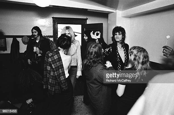 Steven Tyler of Aerosmith backstage at The Winterland Ballroom in 1974 in San Francisco California