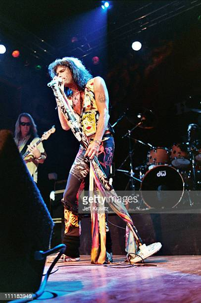 Steven Tyler of Aerosmith during Aerosmith Live at The House of Blues at The House of Blues in Los Angeles CA United States