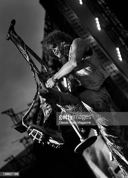 Steven Tyler of Aerosmith, live on stage at Download Festival on June 13, 2010. Donington Park,