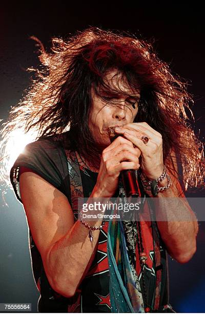 Steven Tyler of Aerosmith performs at the Palatrussardi in Milan Italy June 6 1993