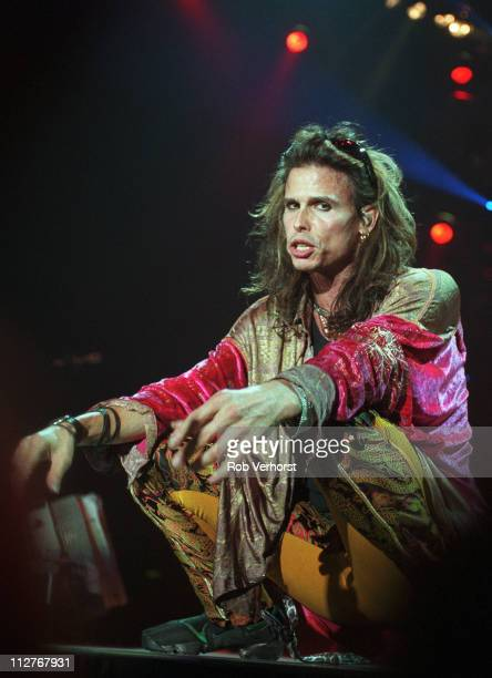 Steven Tyler of Aerosmith performs on stage at Ahoy Rotterdam Netherlands 27th May 1997