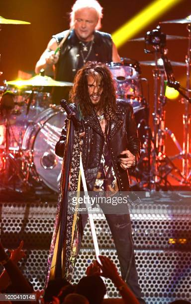 Steven Tyler of Aerosmith performs onstage during the 2018 MTV Video Music Awards at Radio City Music Hall on August 20, 2018 in New York City.