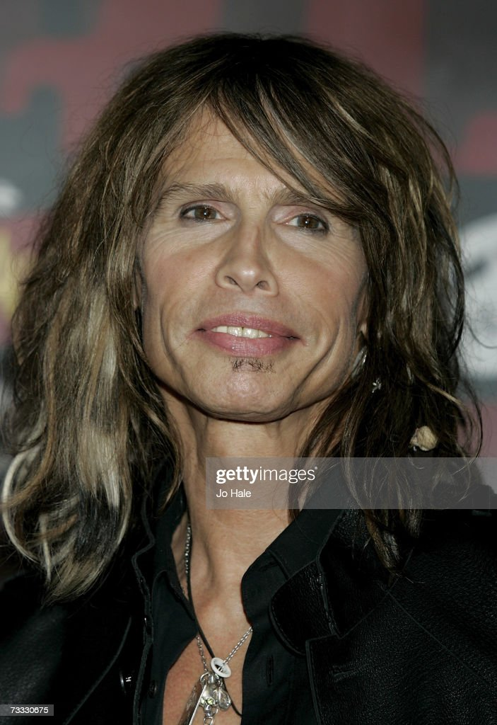 Steven Tyler of Aerosmith poses in the awards room at the BRIT Awards 2007 in association with MasterCard at Earls Court on February 14, 2007 in London,England.