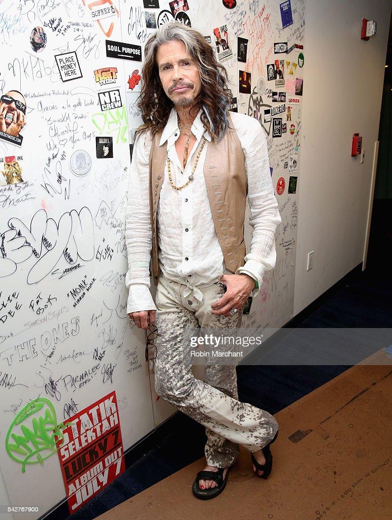 Steven Tyler of Aerosmith visits at SiriusXM Studio on June 24, 2016 in New York City.