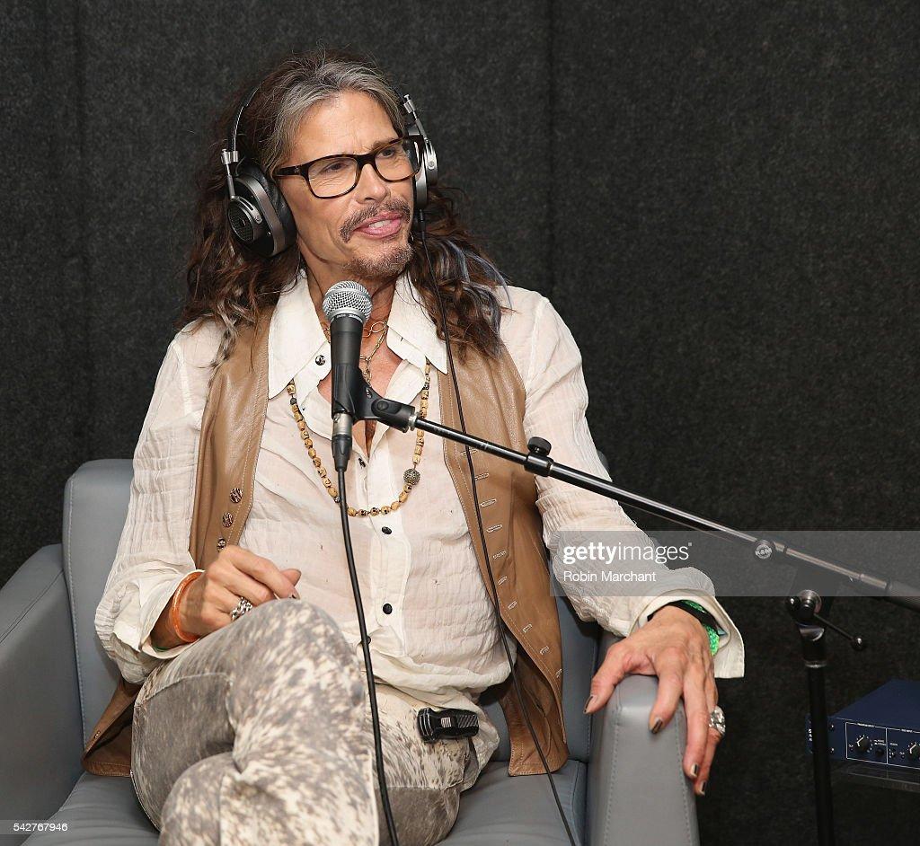 Steven Tyler of Aerosmith visits SiriusXM 's 'Covino & Rich' at SiriusXM Studio on June 24, 2016 in New York City.