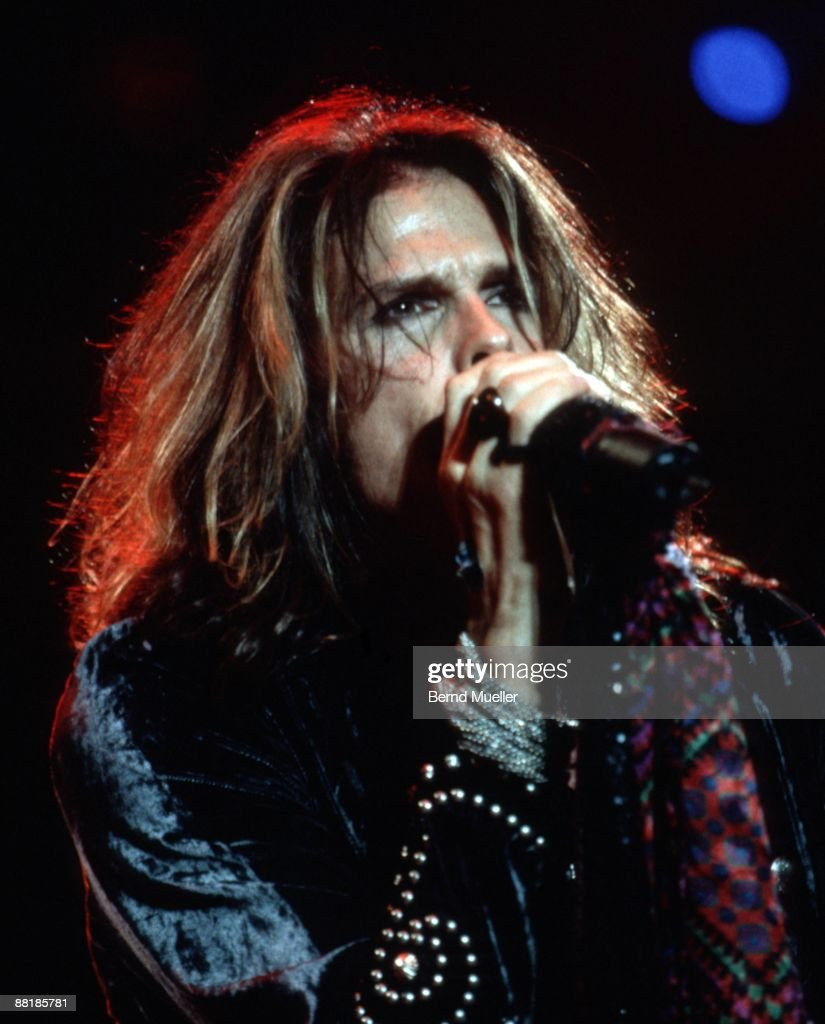 Steven Tyler of American band Aerosmith performs on stage at the Rock im Park Festival in Nuremberg, Germany on May 18 1997.