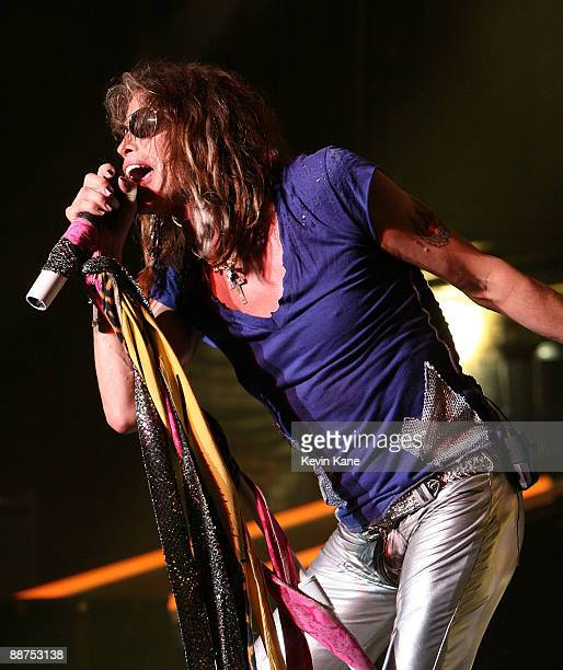 Steven Tyler of Areosmith performs in concert at Nikon at Jones Beach Theater on June 26 2009 in Wantagh New York