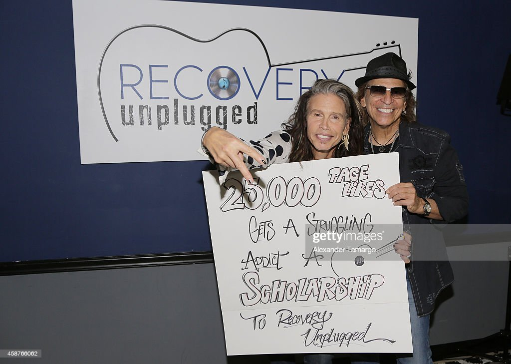 Steven Tyler Guest Speaker At Recovery Unplugged : ニュース写真