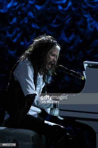Steven Tyler performs at 'Howard Stern's Birthday Bash' presented by SiriusXM produced by Howard Stern Productions at Hammerstein Ballroom on January...