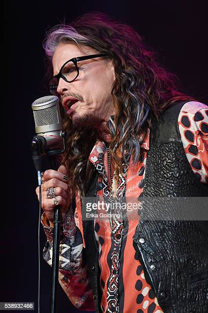 Steven Tyler performs at Ryman Auditorium on June 8, 2016 in Nashville, Tennessee.