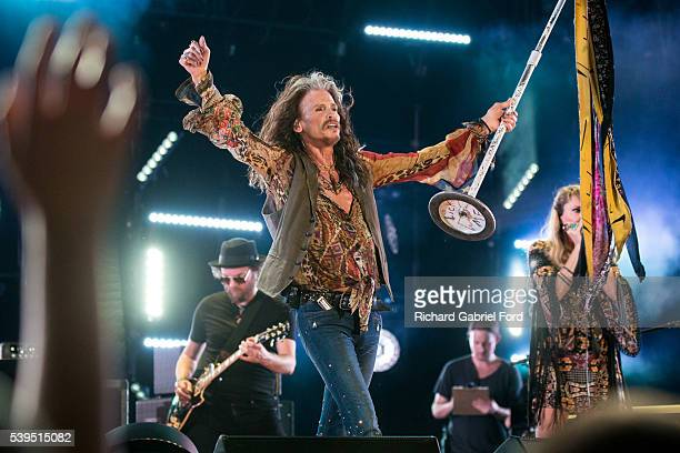 Steven Tyler performs during the 2016 CMA Music Festival at Nissan Stadium on June 11 2016 in Nashville Tennessee